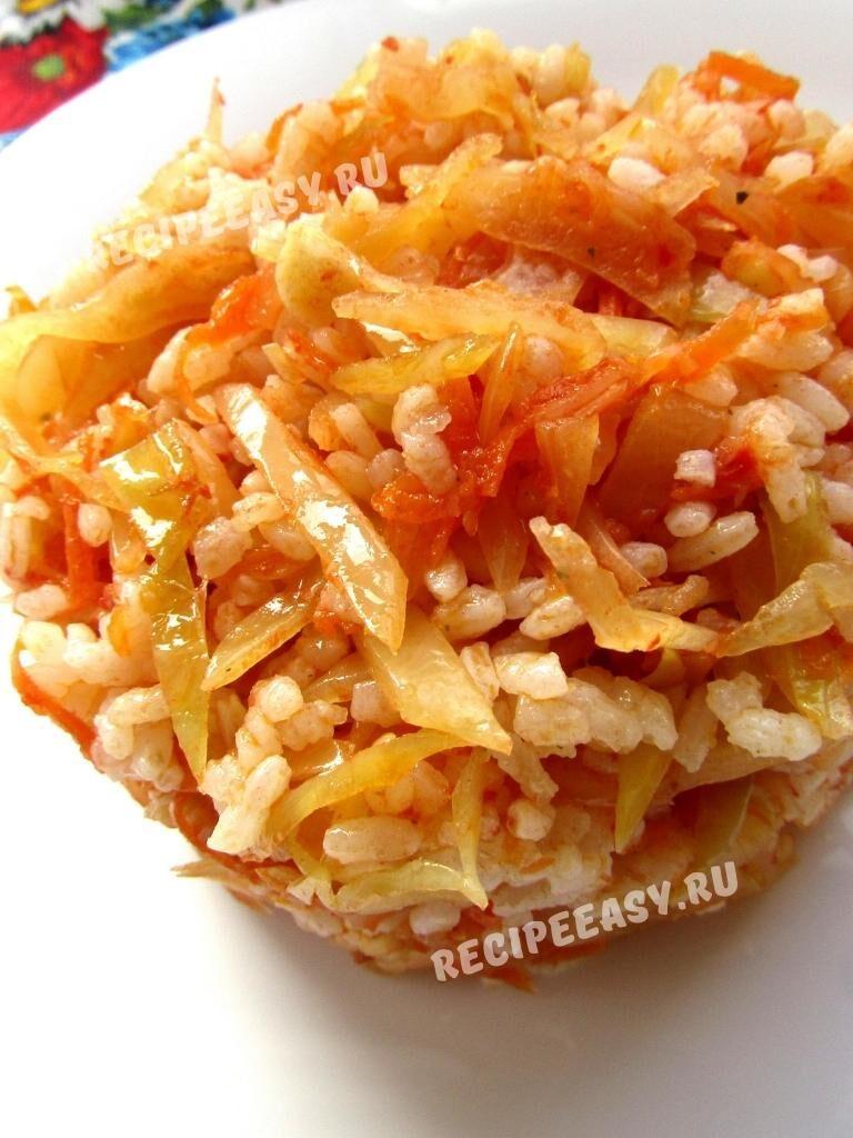 Рис с овощами в томате