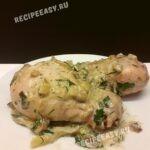 Курица с баклажанами в кисло сладком соусе
