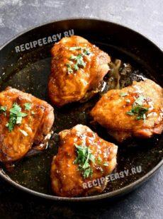 Куриные бедра под медовым соусом