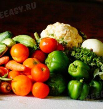 Сколько готовить овощи: таблица